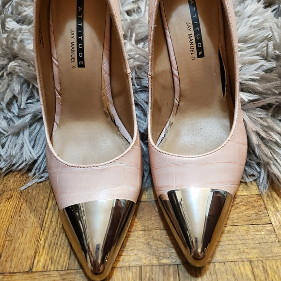 Jay Manuel Pink and Silver Pumps